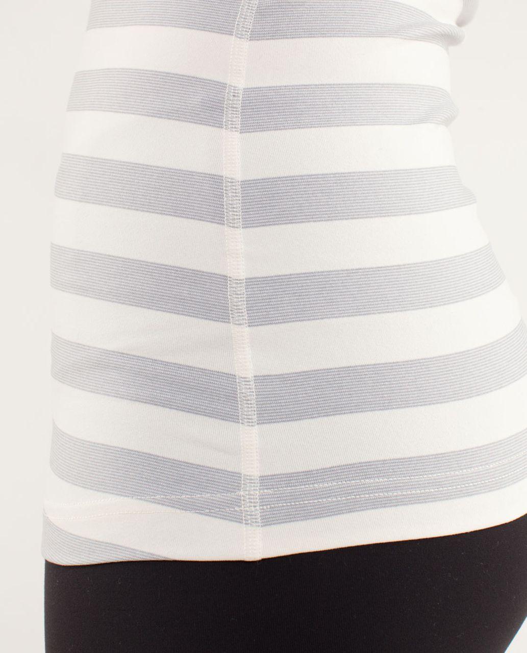 Lululemon Cool Racerback - Micro Macro Polar Cream Silver Slate