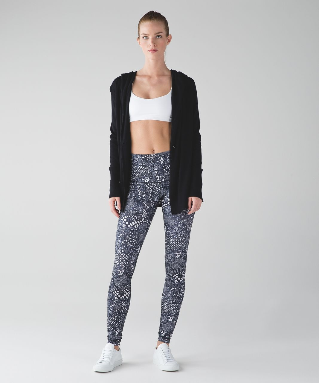 Lululemon Wunder Under Pant (Hi-Rise) - Pretty Lace White Black