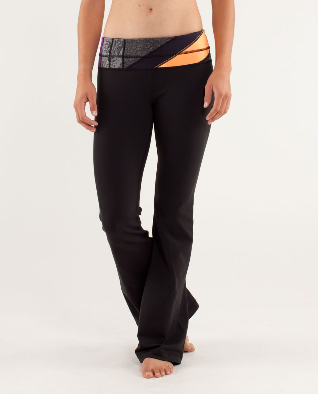 Lululemon Groove Pant *Slim (Regular) - Black /  Quilting Winter 3 /  Quilting Winter 3