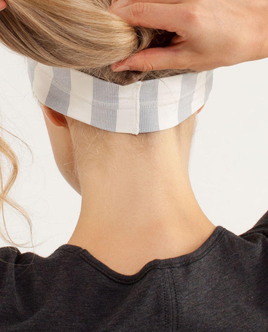 Lululemon Fly Away Tamer Headband - Micro Macro Polar Cream Silver Slate