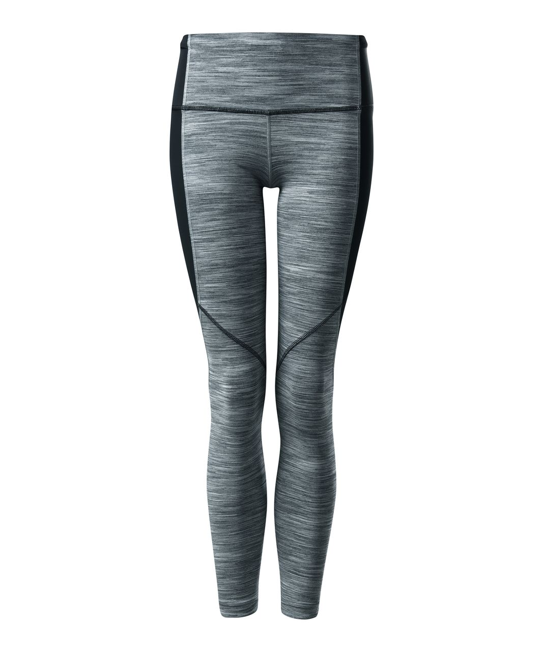 Lululemon Run With The Sun Tight - Space Dye Camo Seal Grey Deep Coal / Deep Coal