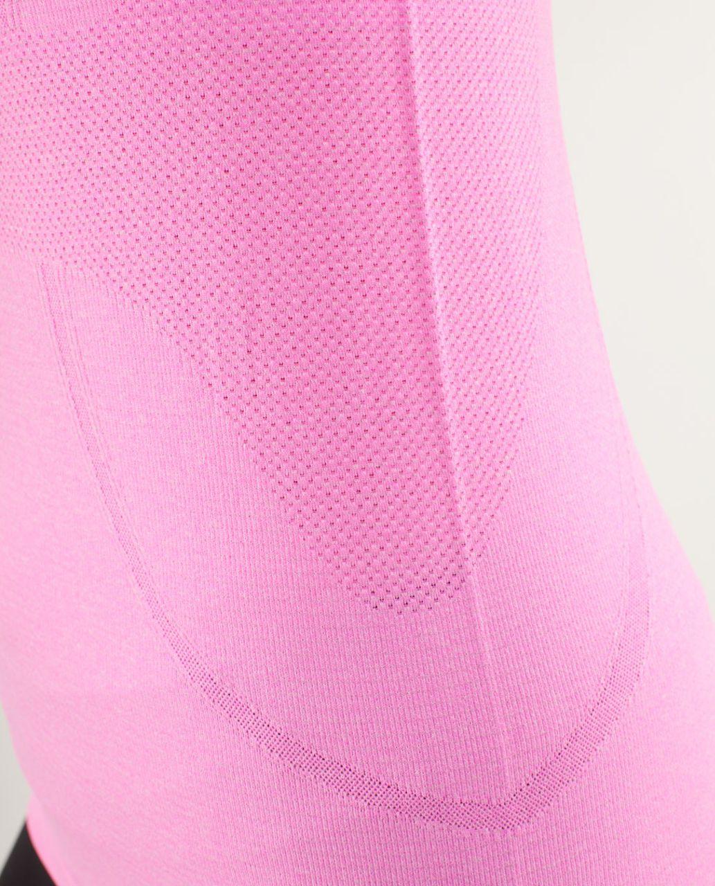 Lululemon Run:  Swiftly Tech Short Sleeve - Raspberry Glo Light / Black Swan