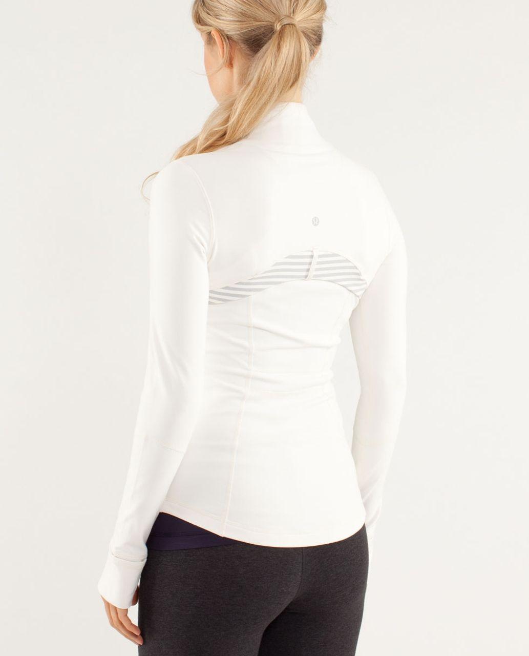 Lululemon Define Jacket *Brushed - Polar Cream / Half Micro Macro Stripe Polar Cream Heathered Silver Slate / Rose Herringb