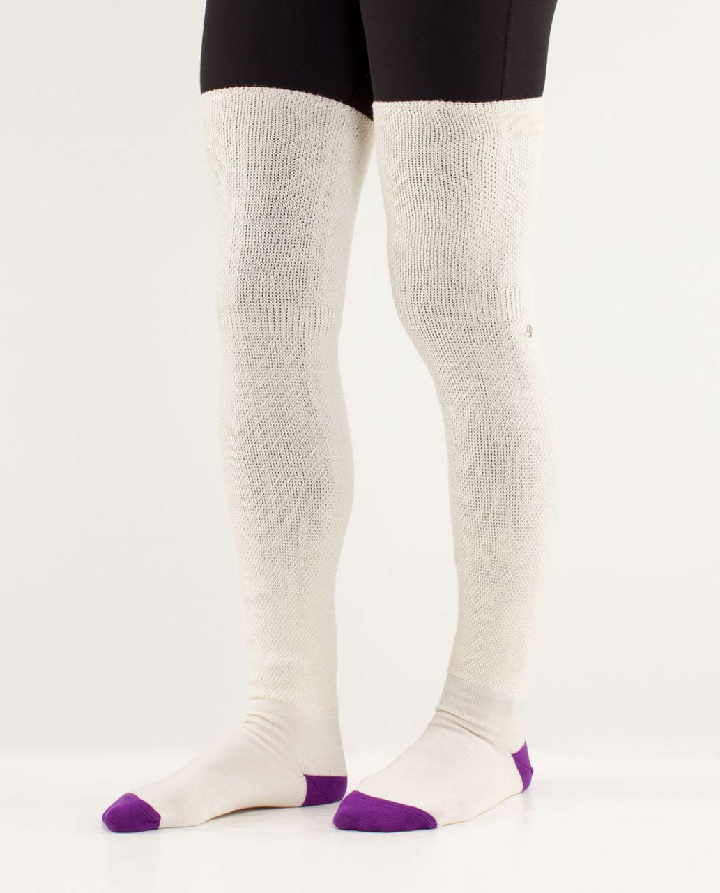 da17a4e7c64 Lululemon Savasana Sock - Polar Cream   Tender Violet - lulu fanatics