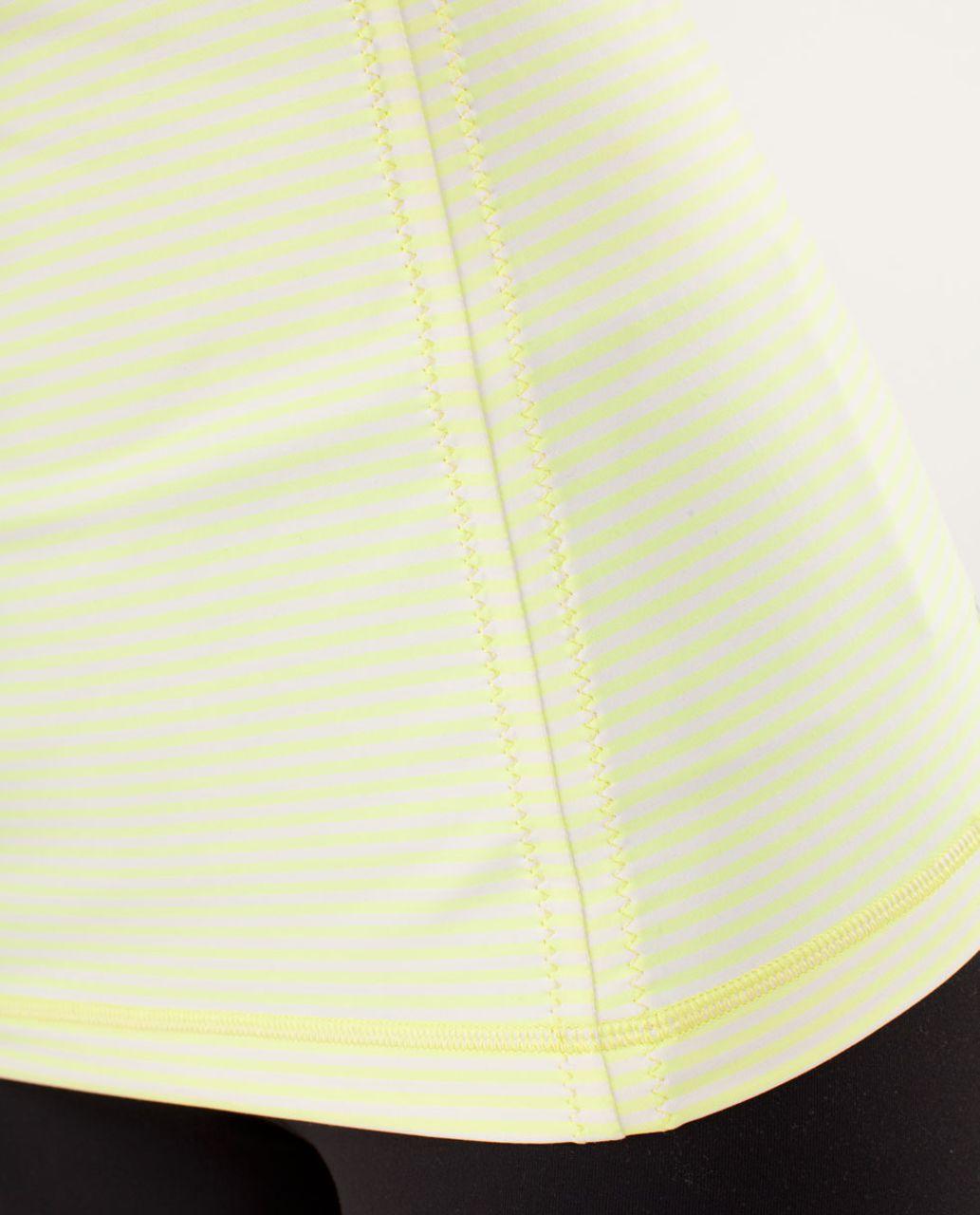 Lululemon Free To Be Tank - Slope Stripe Polar Cream Clarity Yellow