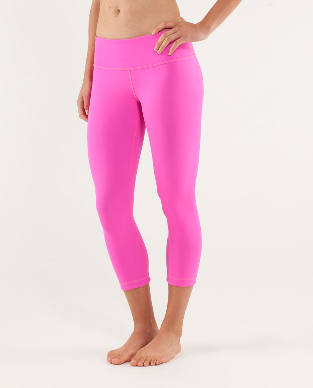 Lululemon Wunder Under Crop *Reversible - Raspberry Glo Light / Black Swan