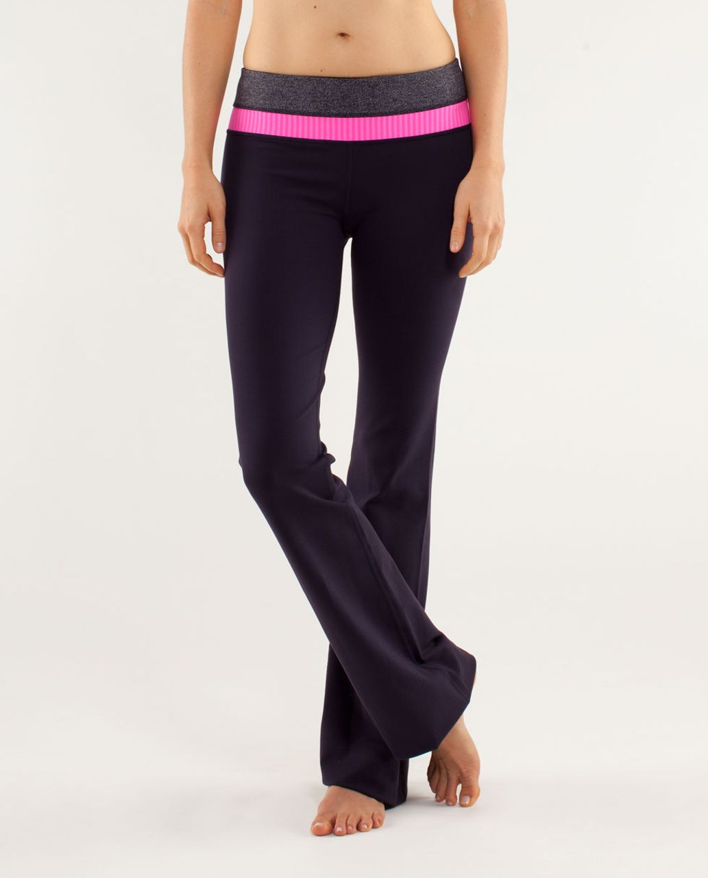Lululemon Groove Pant *Slim (Tall) - Black Swan / Herringbone Black Swan / Slope Stripe Raspberry Glo Light
