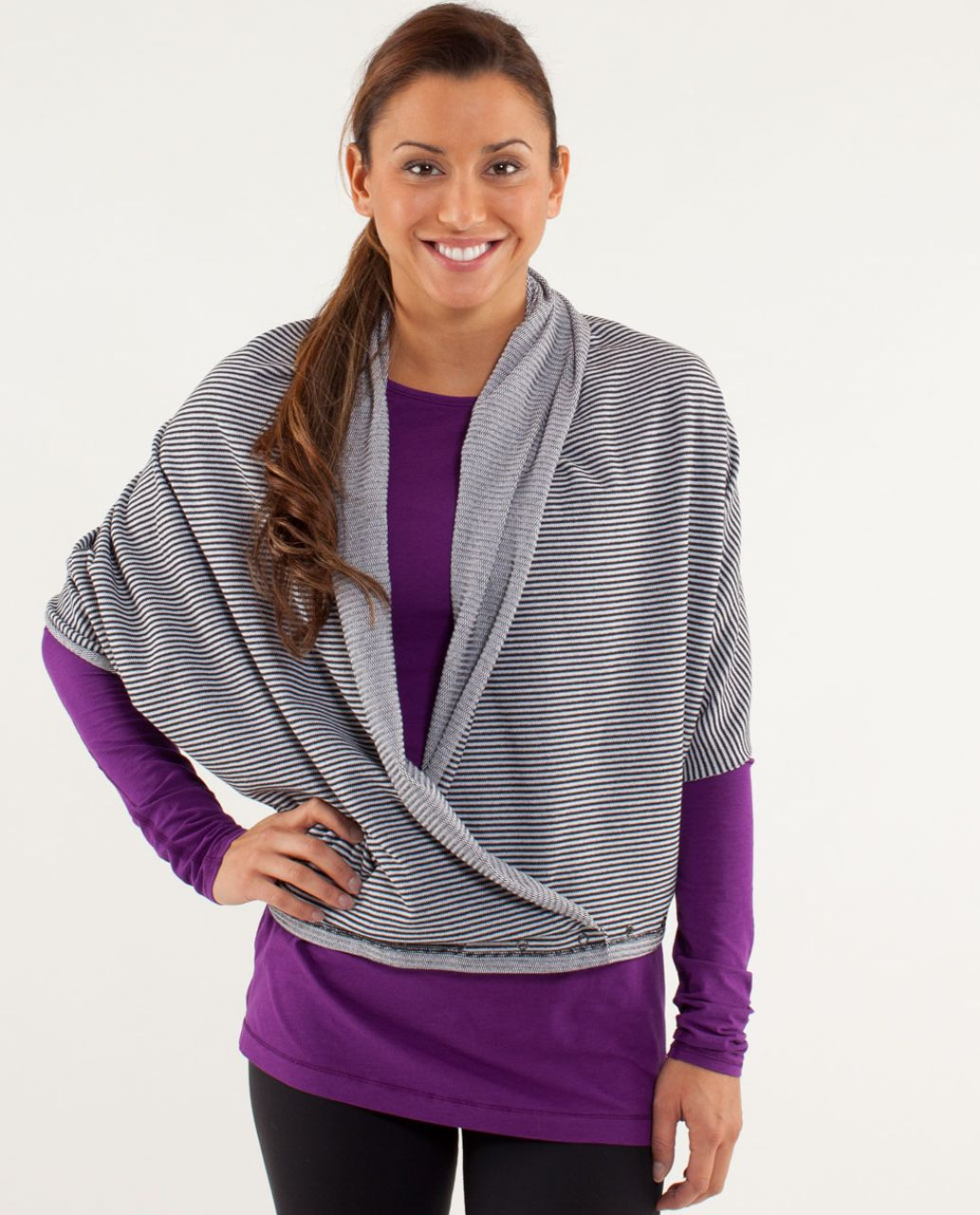 Lululemon Vinyasa Scarf *Rulu - Mini Check Pique Black White