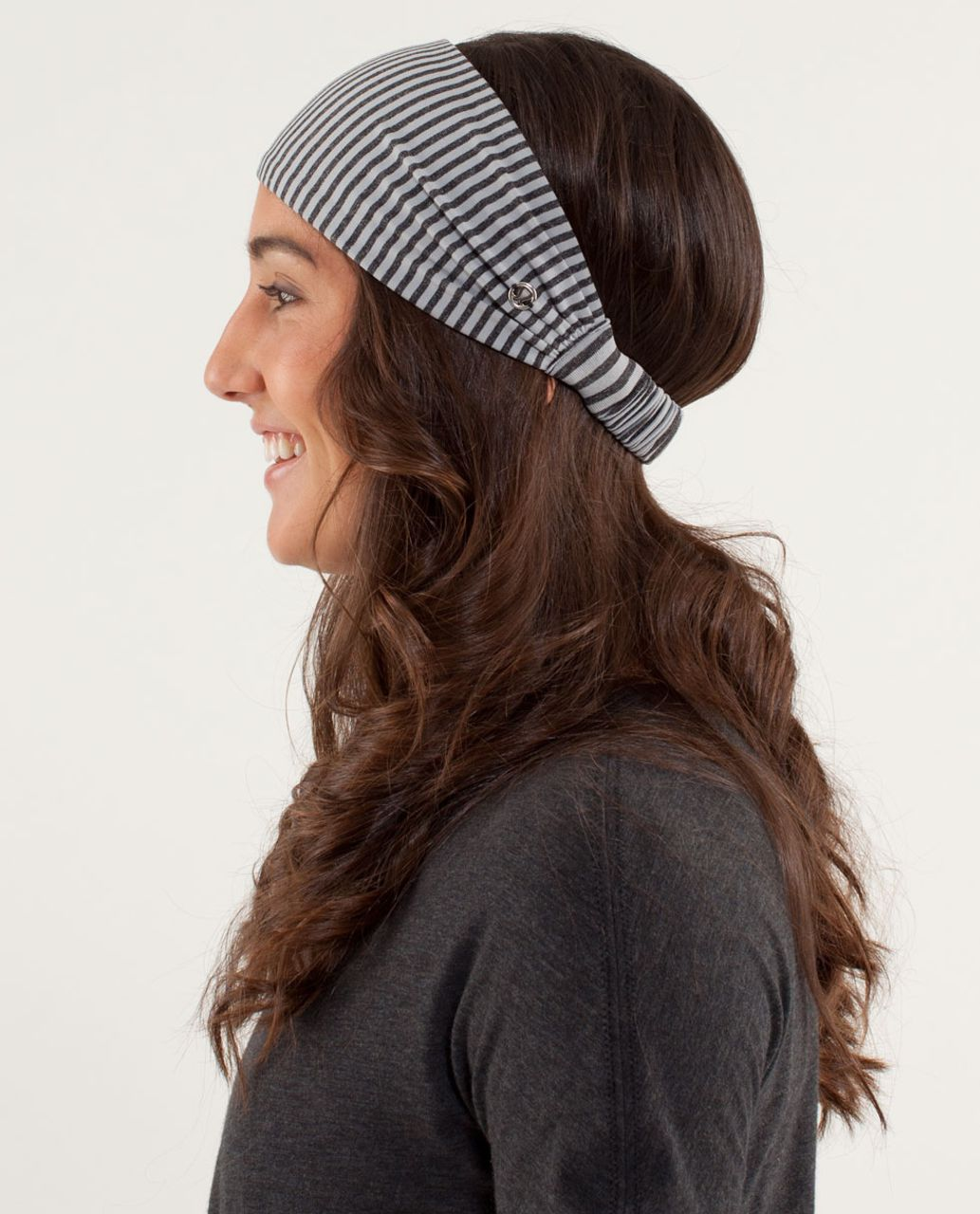 35c0492ac2 Lululemon Bang Buster Headband - Slope Stripe Silver Slate Heathered Black  - lulu fanatics