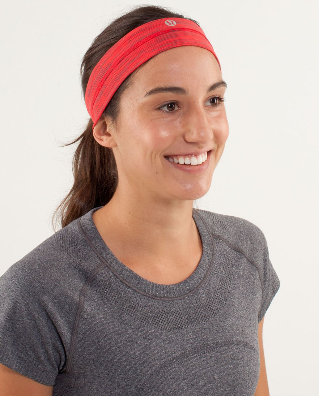 Lululemon Fly Away Tamer Headband - Wee Are From Space Love Red