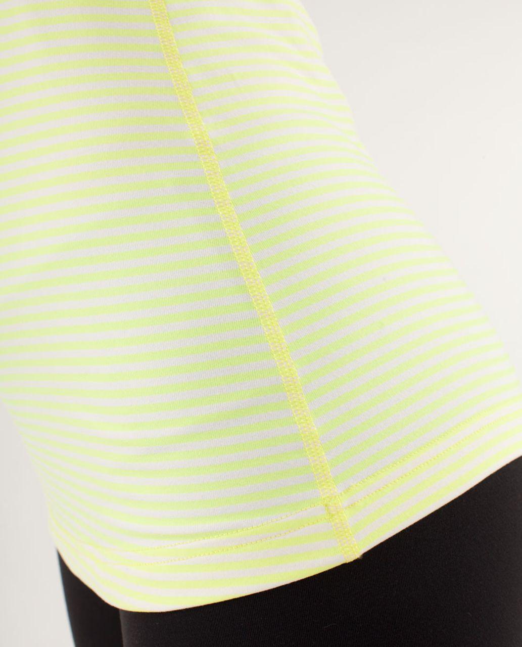 Lululemon Cool Racerback - Slope Stripe Polar Cream Clarity Yellow