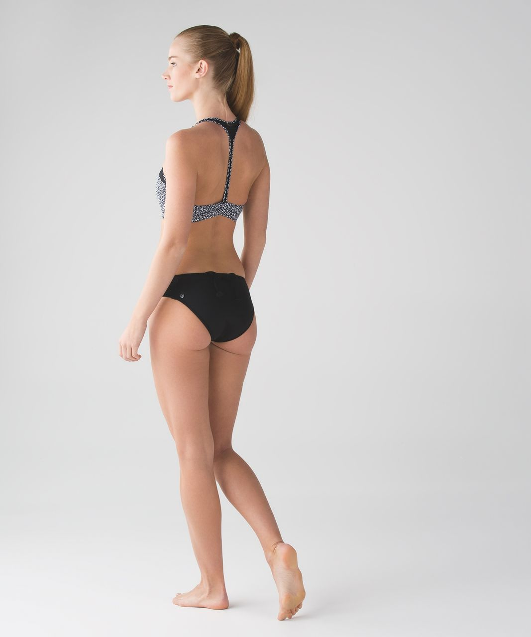 Lululemon Tidal Flow Bikini - Black / Miss Mosaic Black