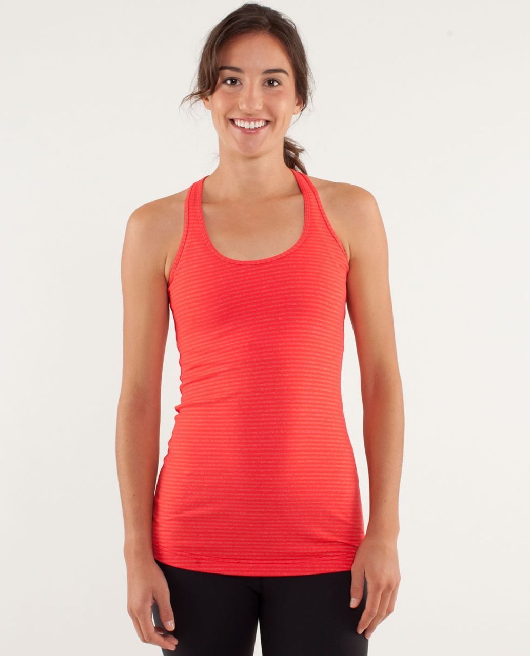 Lululemon Cool Racerback - Slope Stripe Love Red Heathered Fiery Red