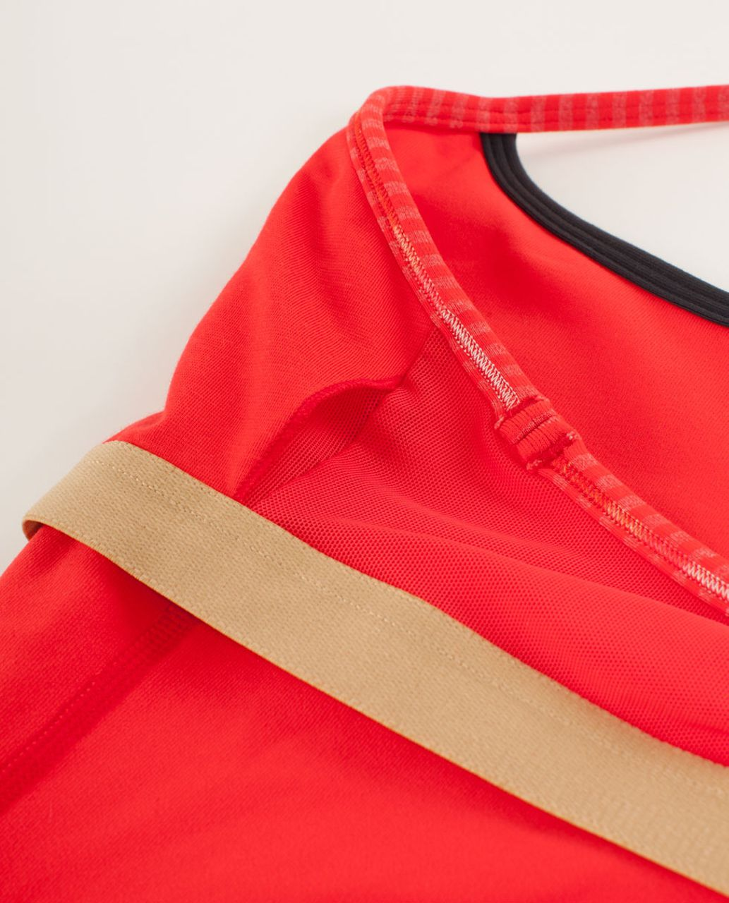 Lululemon Power Y Tank *Luon Light - Love Red / Slope Stripe Love Red Heathered Fiery Red / Deep Coal