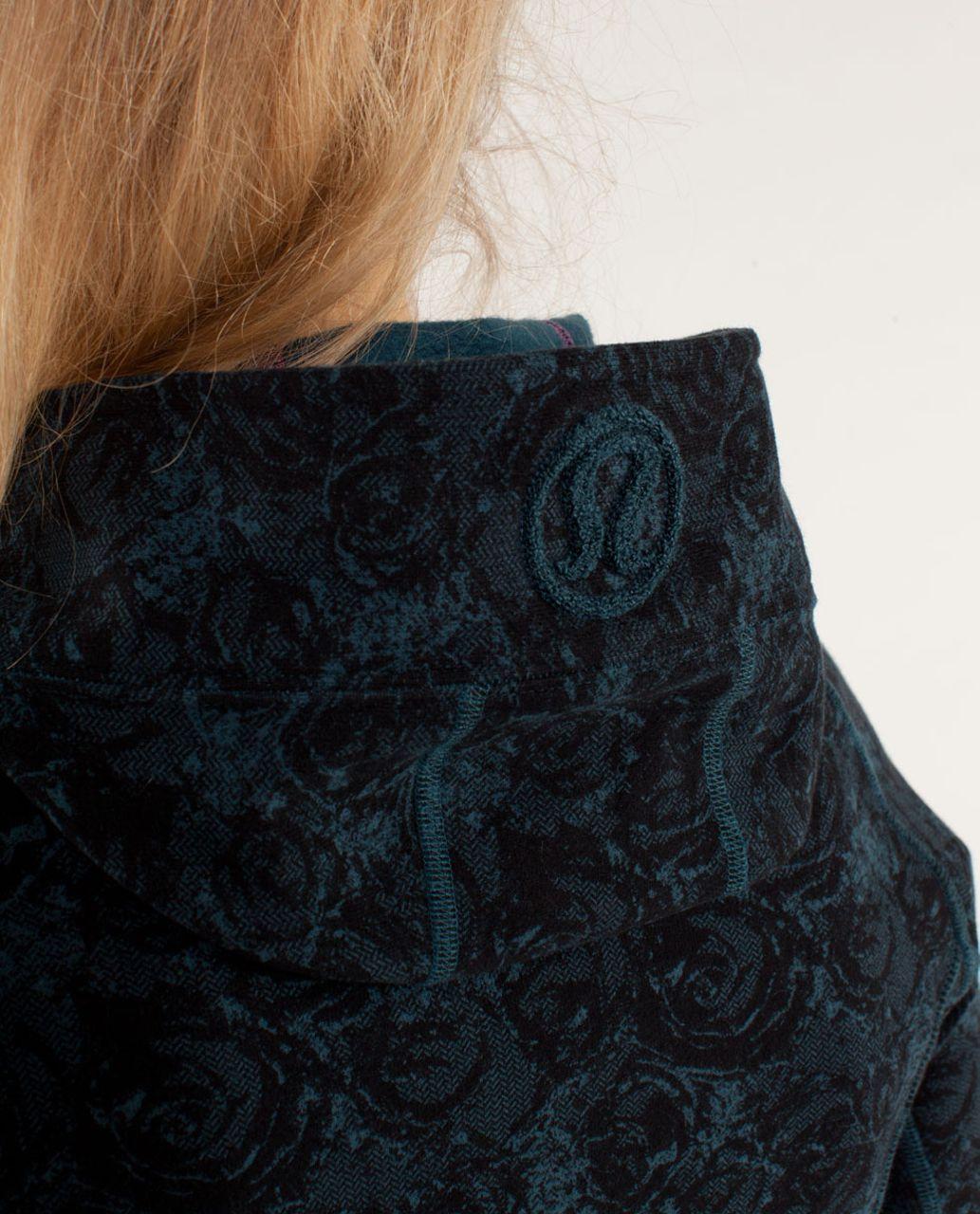 Lululemon Scuba Hoodie *Stretch - Rose Herringbone Printed Alberta Lake Black