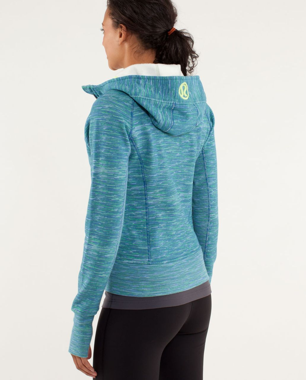 Lululemon Scuba Hoodie *Stretch - Wee Are From Space Printed Polar Cream Clarity Yellow