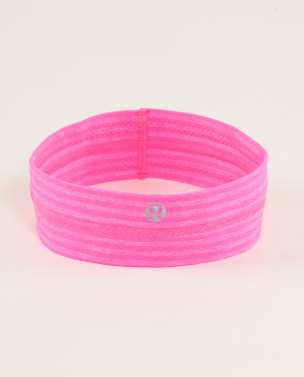 Lululemon Fly Away Tamer Headband - Slope Stripe Raspberry Glo Light Heathered Raspberry Glo Light / Black Swan