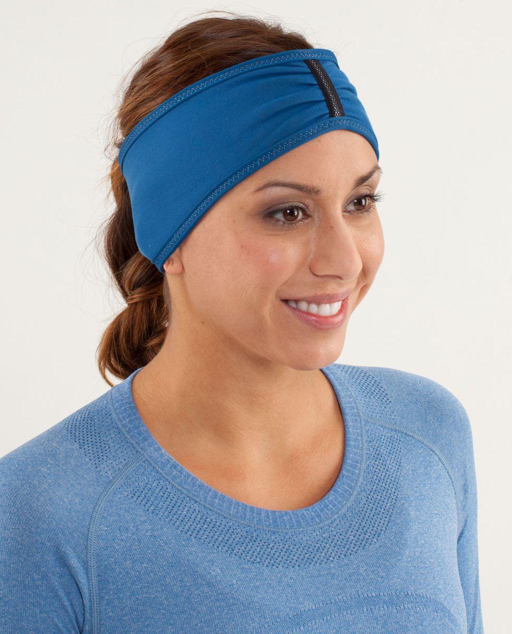 Lululemon Brisk Run Headband - Limitless Blue / Clarity Yellow