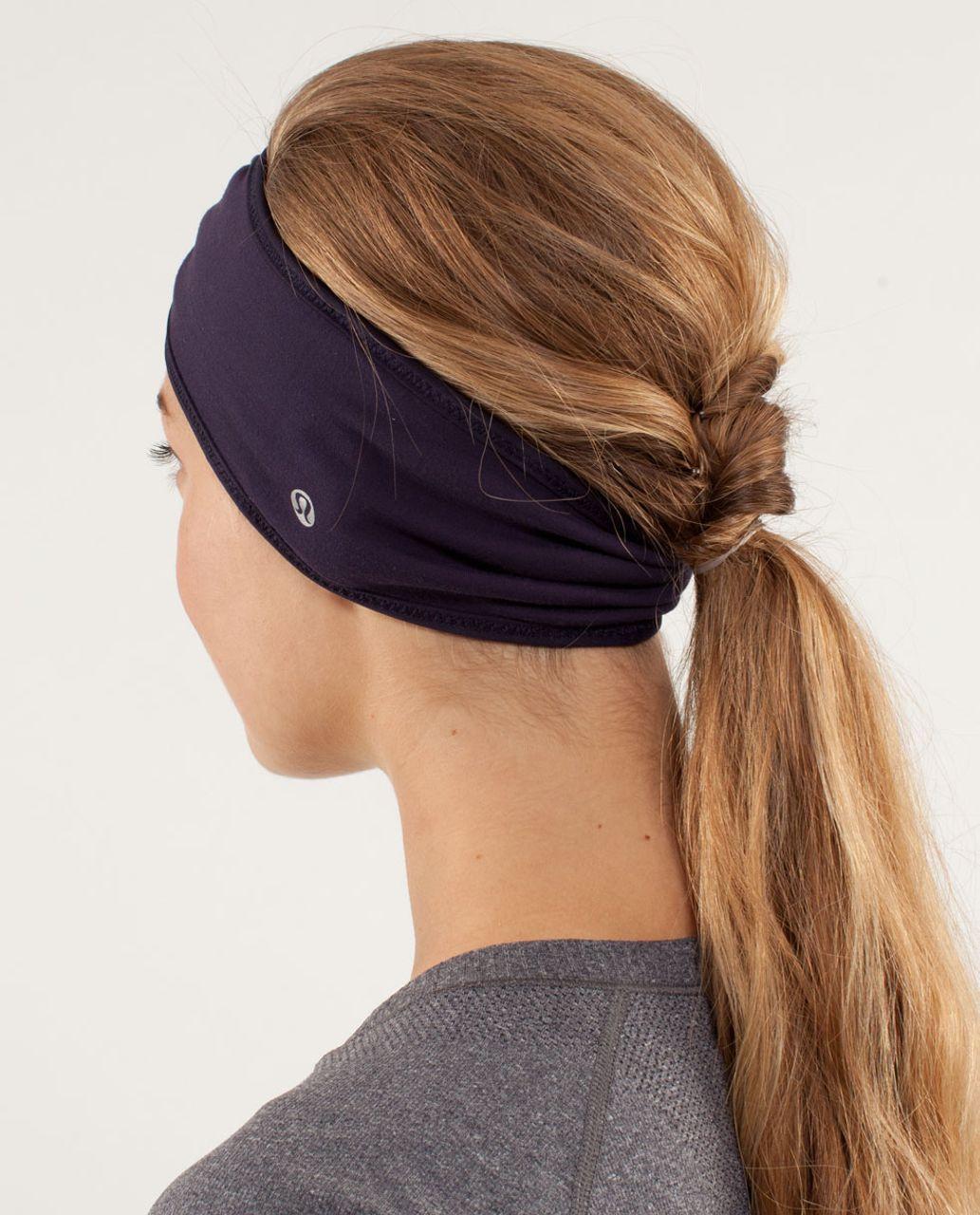 Lululemon Brisk Run Headband - Raspberry Glo Light / Black Swan