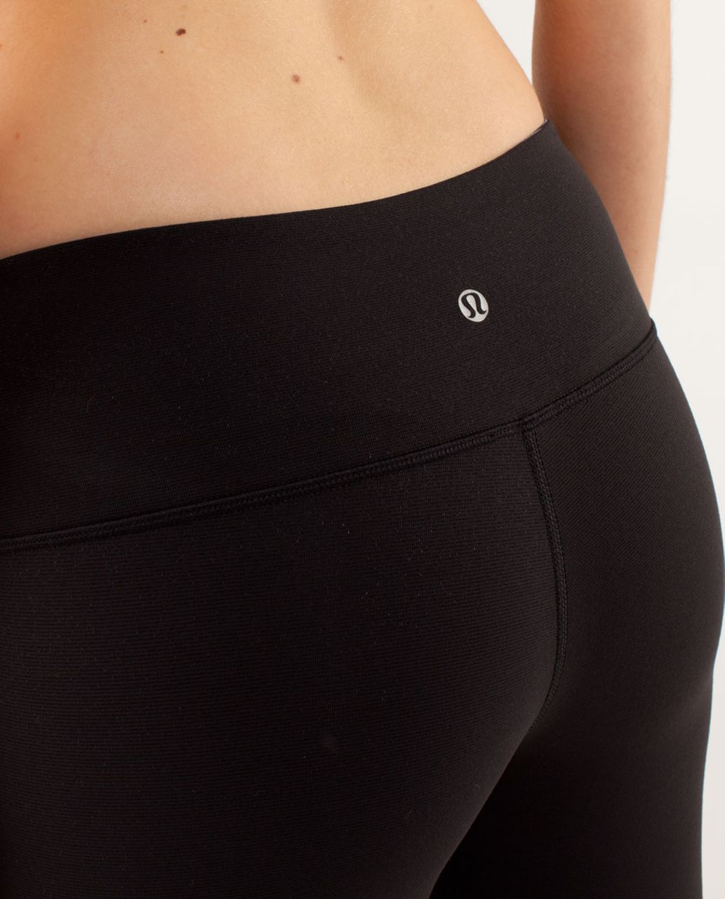 Lululemon Wunder Under Crop - Black / Wee Are From Space Black Coal