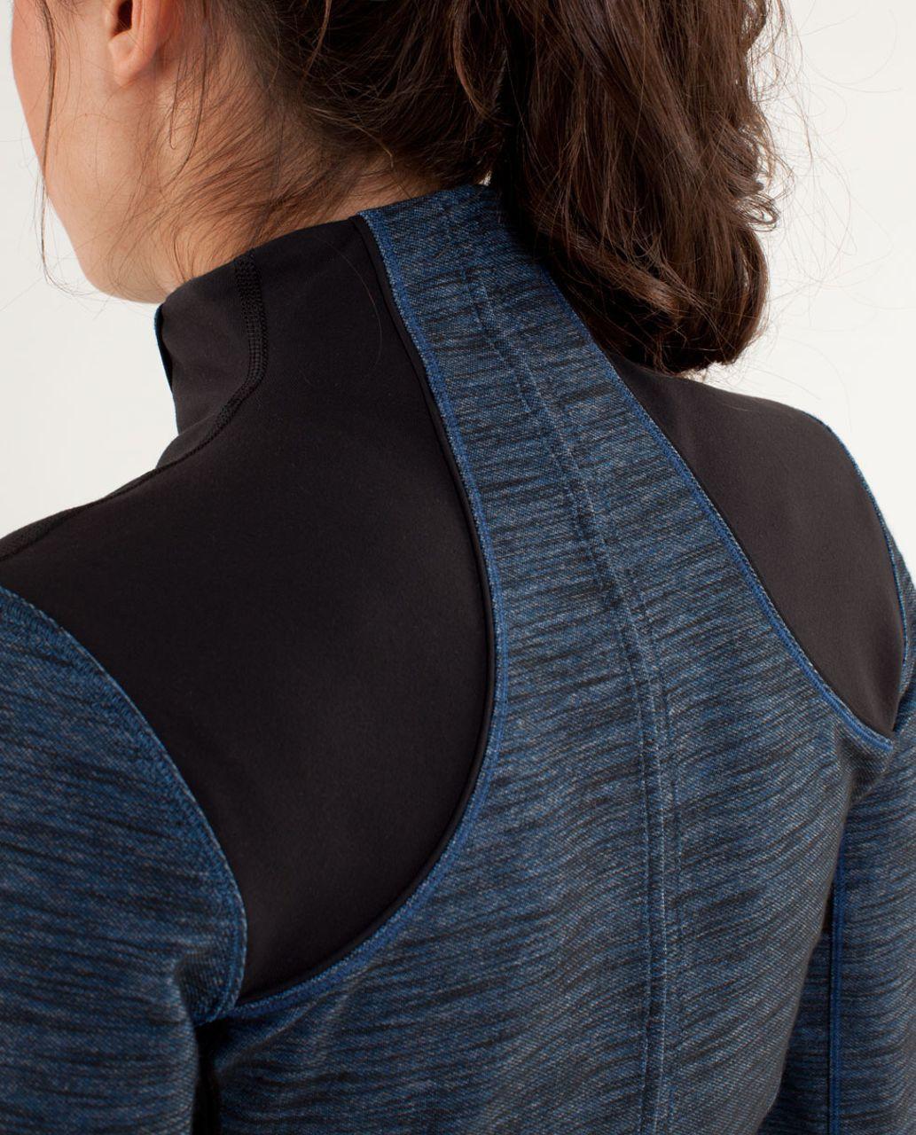 Lululemon Forme Jacket - Reversible Slub Denim Limitless Blue / Black
