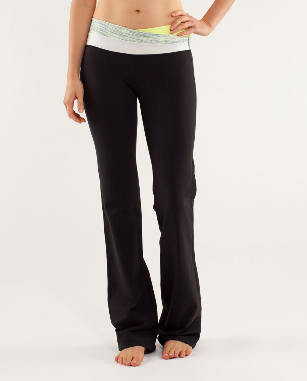 Lululemon Astro Pant (Regular) - Black / Clarity Yellow / Wee Are From Space Polar Cream Clarity Yellow
