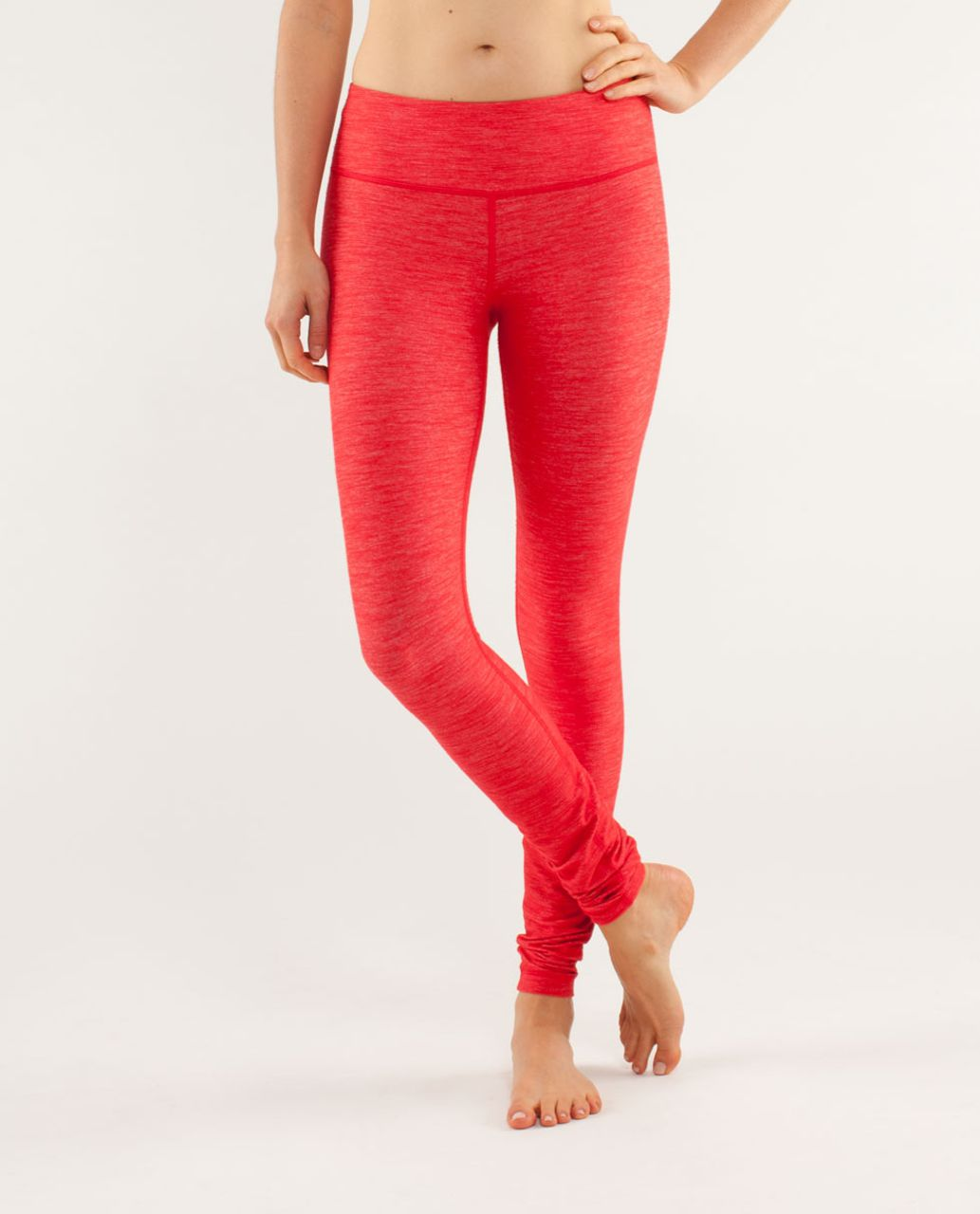 Lululemon Wunder Under Pant - Reversible Slub Denim Love Red