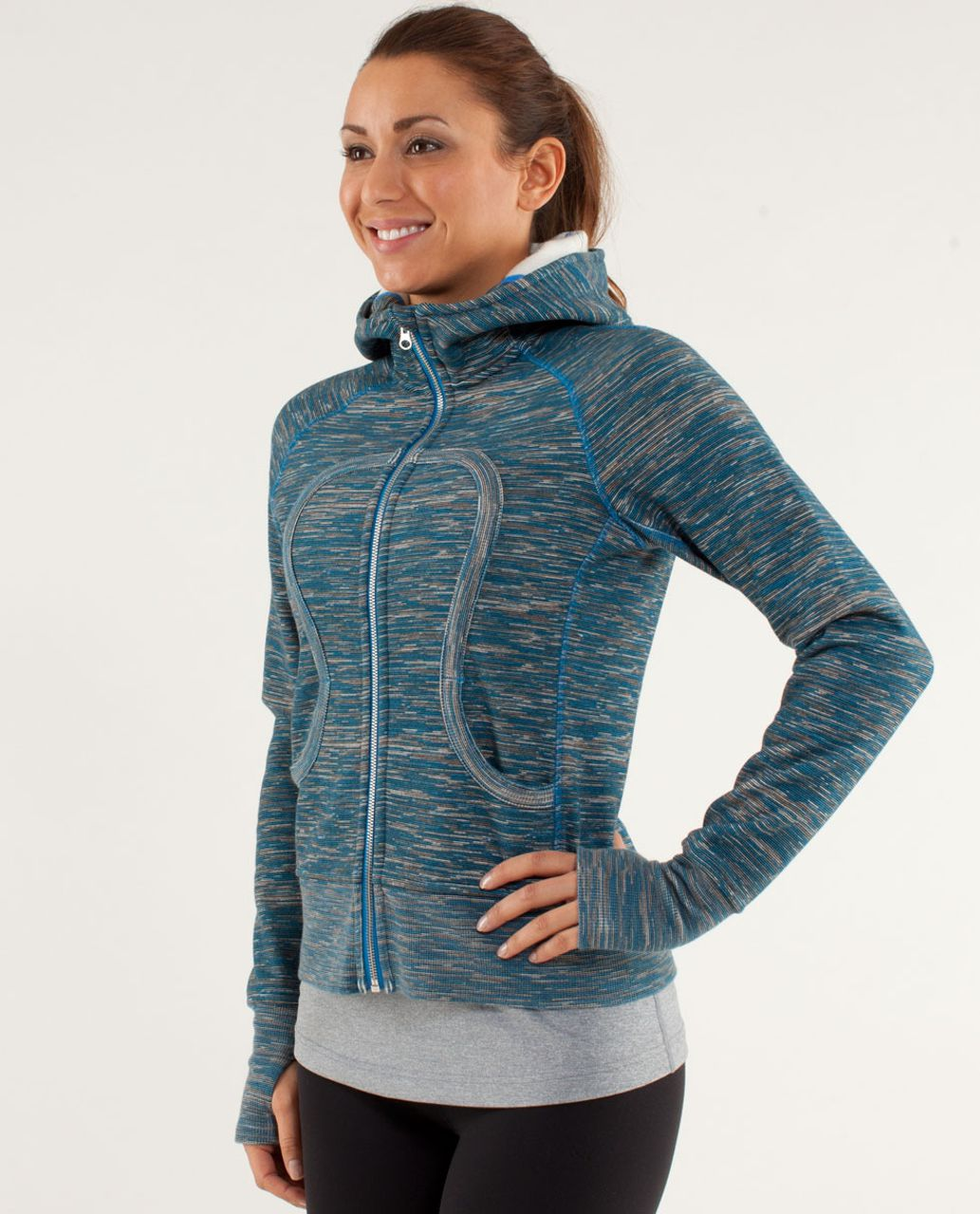 Lululemon Scuba Hoodie *Stretch - Wee Are From Space Printed Polar Cream Beaming Blue