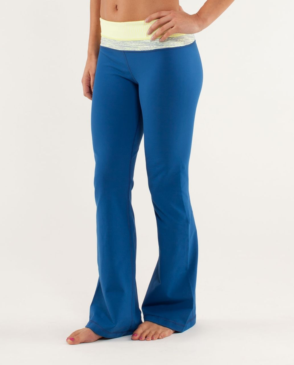 Lululemon Groove Pant *Slim (Regular) - Limitless Blue / Slope Stripe Polar Cream Clarity Yellow / Wee Are From Space Polar Crea