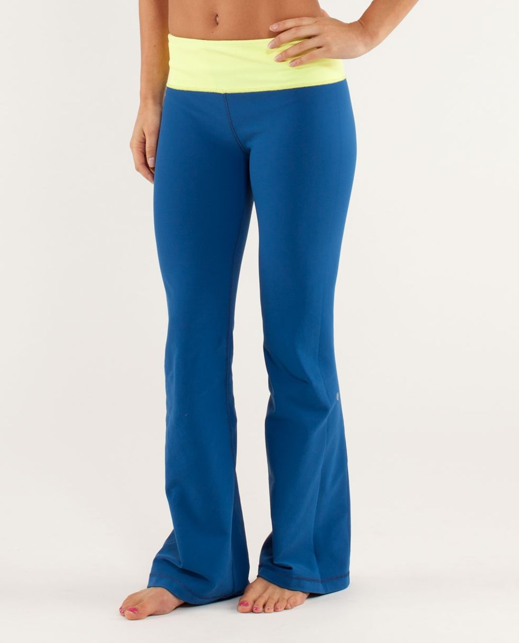 Lululemon Groove Pant *Slim (Tall) - Limitless Blue / Slope Stripe Polar Cream Clarity Yellow / Wee Are From Space Polar Crea