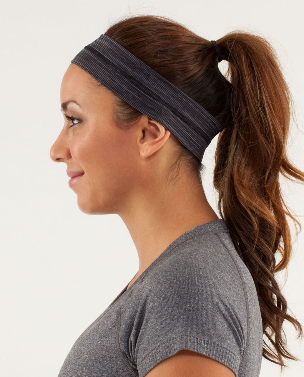 Lululemon Fly Away Tamer Headband - Wee Are From Space Black Coal