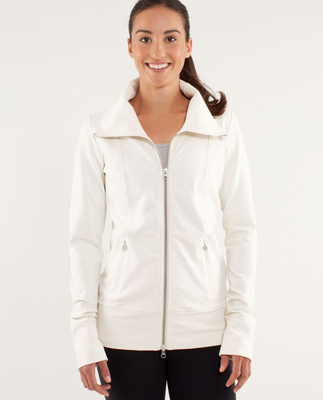 097fbbd9d0 Lululemon Daily Yoga Jacket - Polar Cream - lulu fanatics