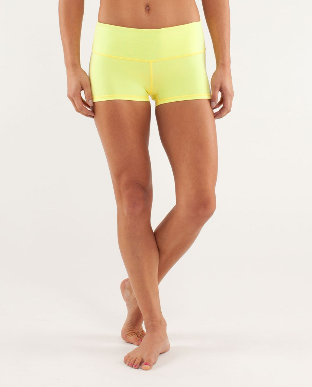Lululemon Boogie Short - Clarity Yellow / Wee Are From Space Polar Cream Clarity Yellow