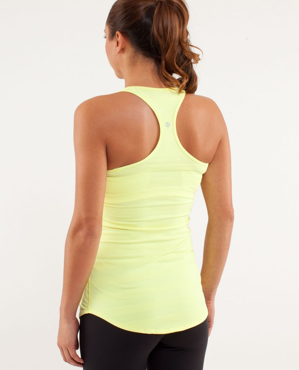 Lululemon Cool Racerback *Striped Rib - Clarity Yellow