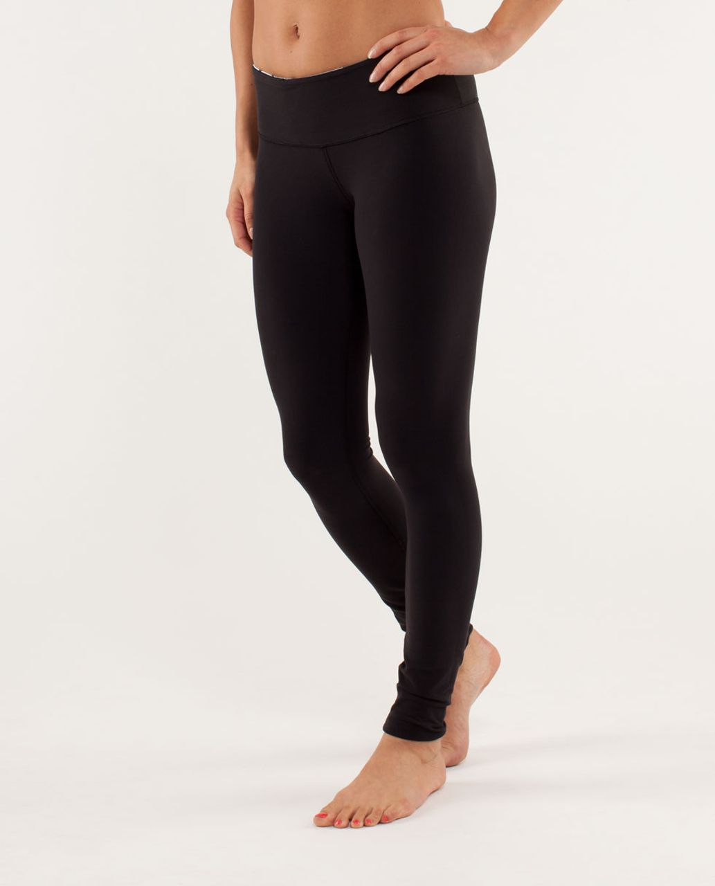 Lululemon Wunder Under Pant - Black /  Quilting Winter 12