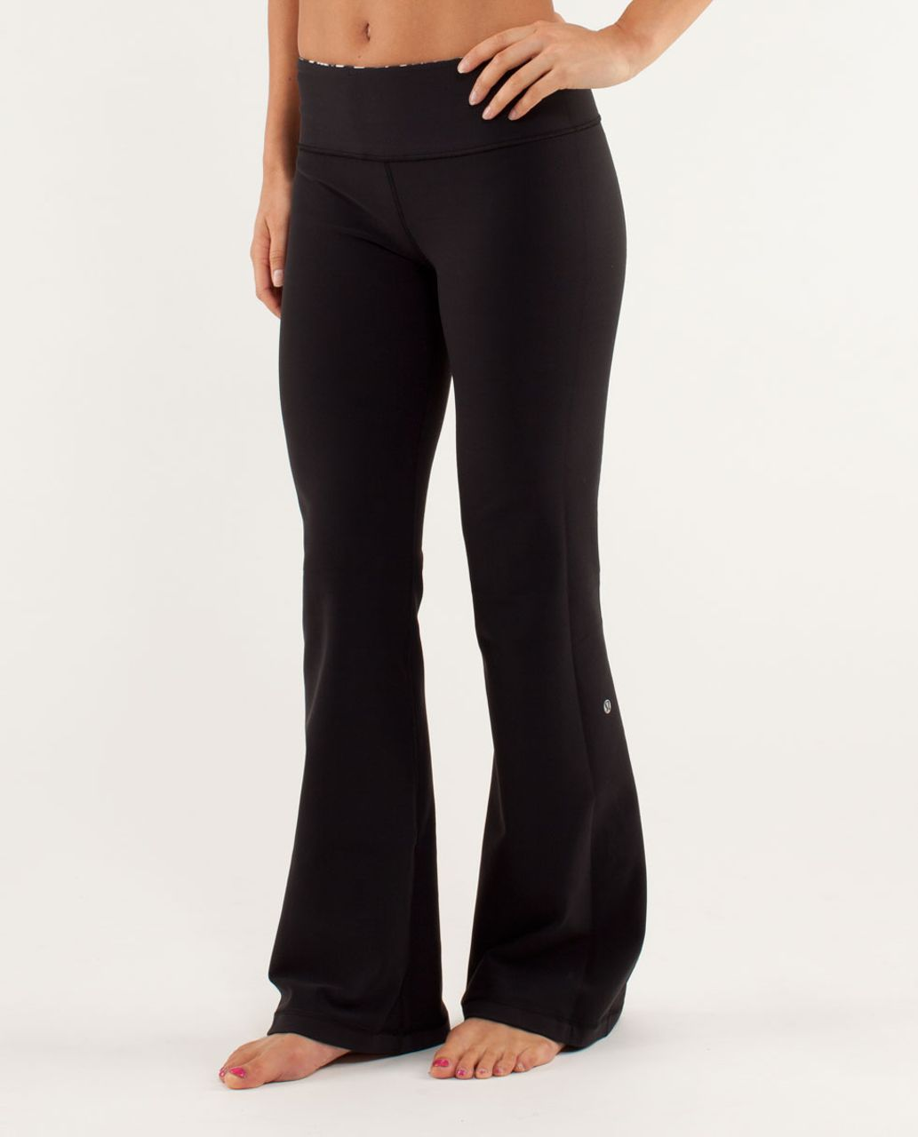 Lululemon Groove Pant *Slim (Regular) - Black / Laceoflage Polar Cream Black / Polar Cream