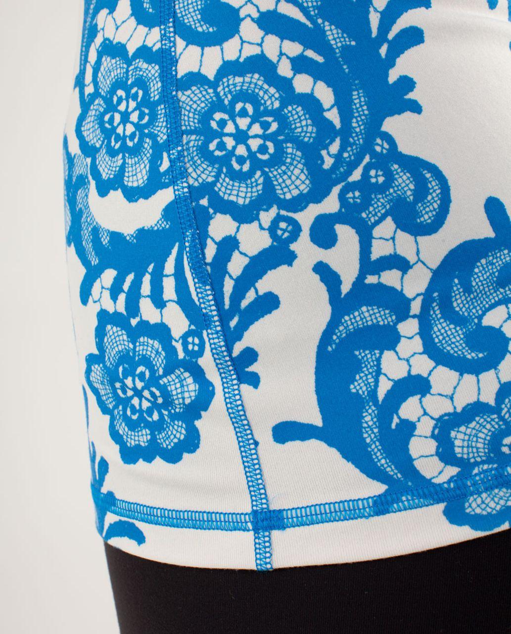 Lululemon Power Y Tank *Luon Light - Laceoflage Polar Cream Beaming Blue / Beaming Blue / Polar Cream
