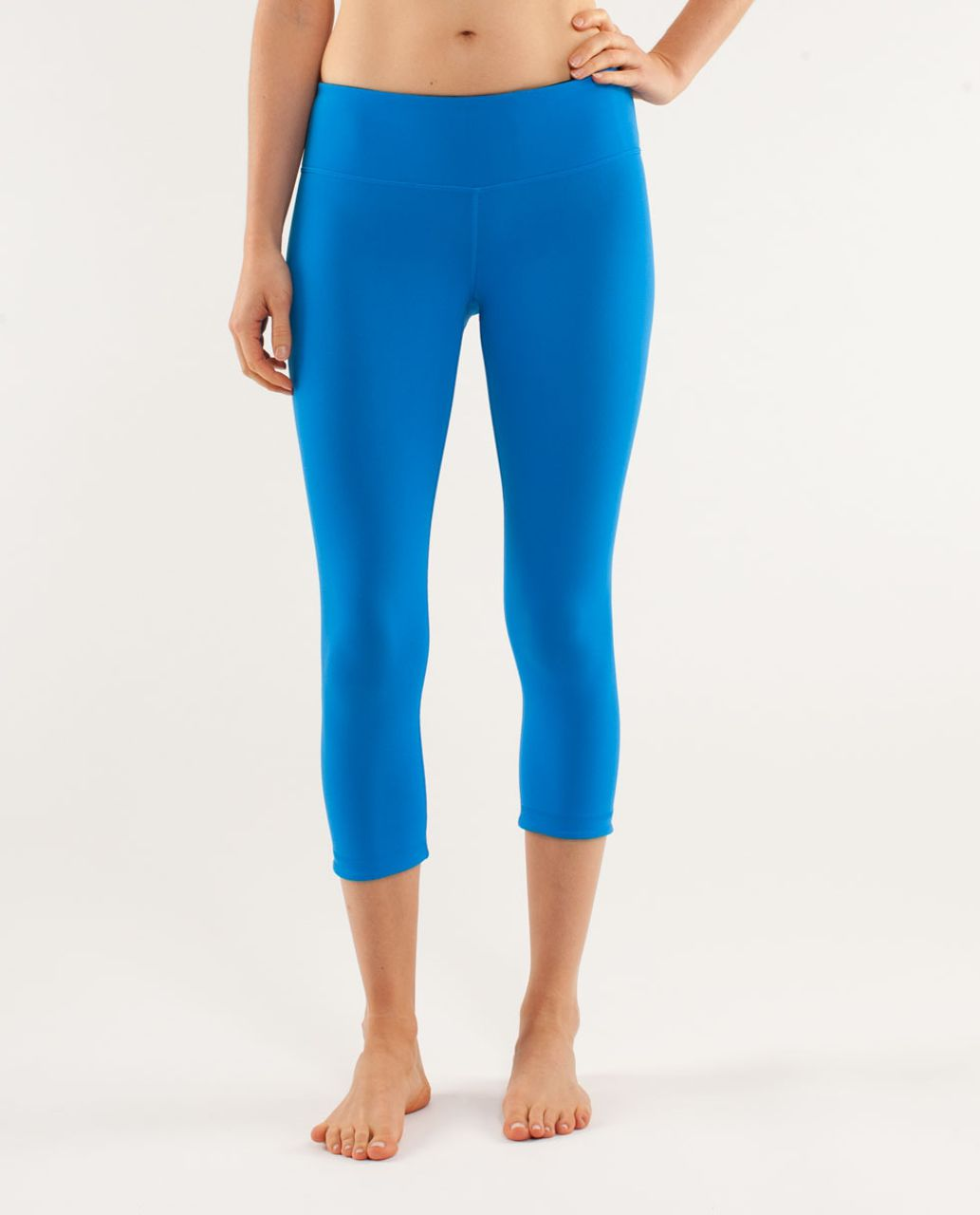 Lululemon Wunder Under Crop *Reversible - Beaming Blue / Black