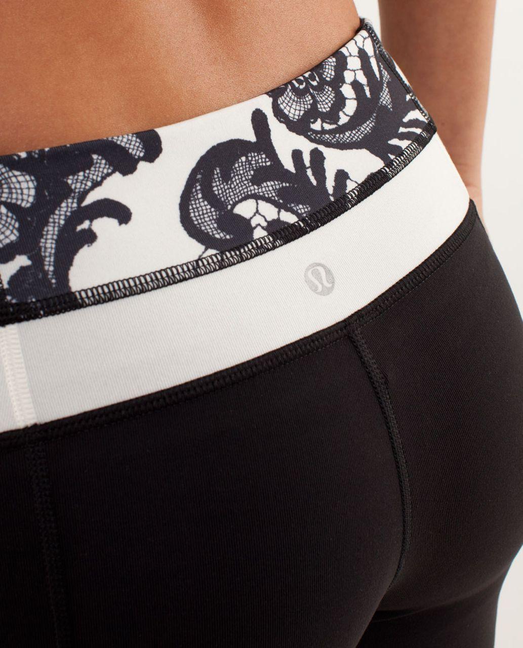 Lululemon Groove Pant *Slim (Tall) - Black / Laceoflage Polar Cream Black / Polar Cream