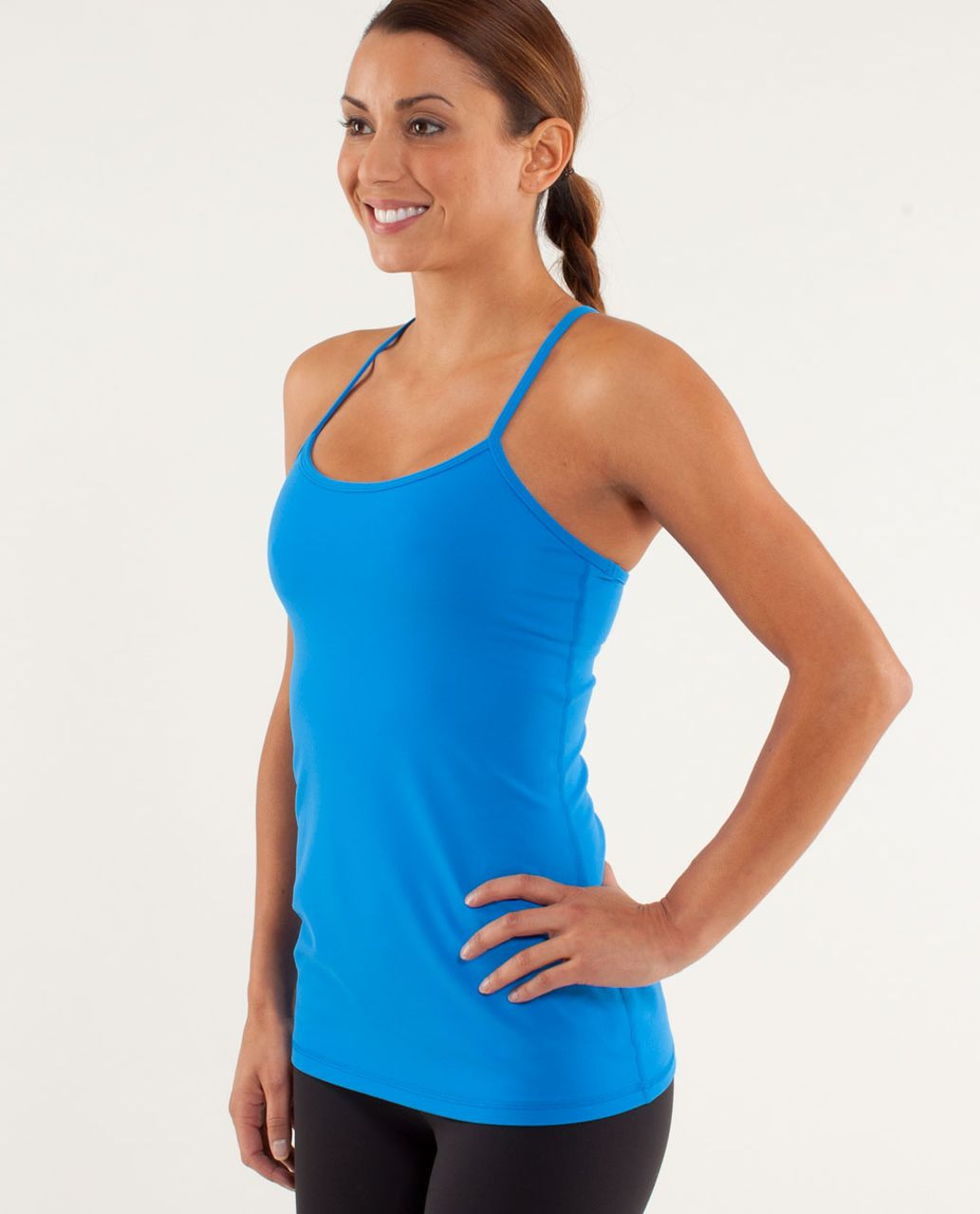 Lululemon Power Y Tank *Luon Light - Beaming Blue