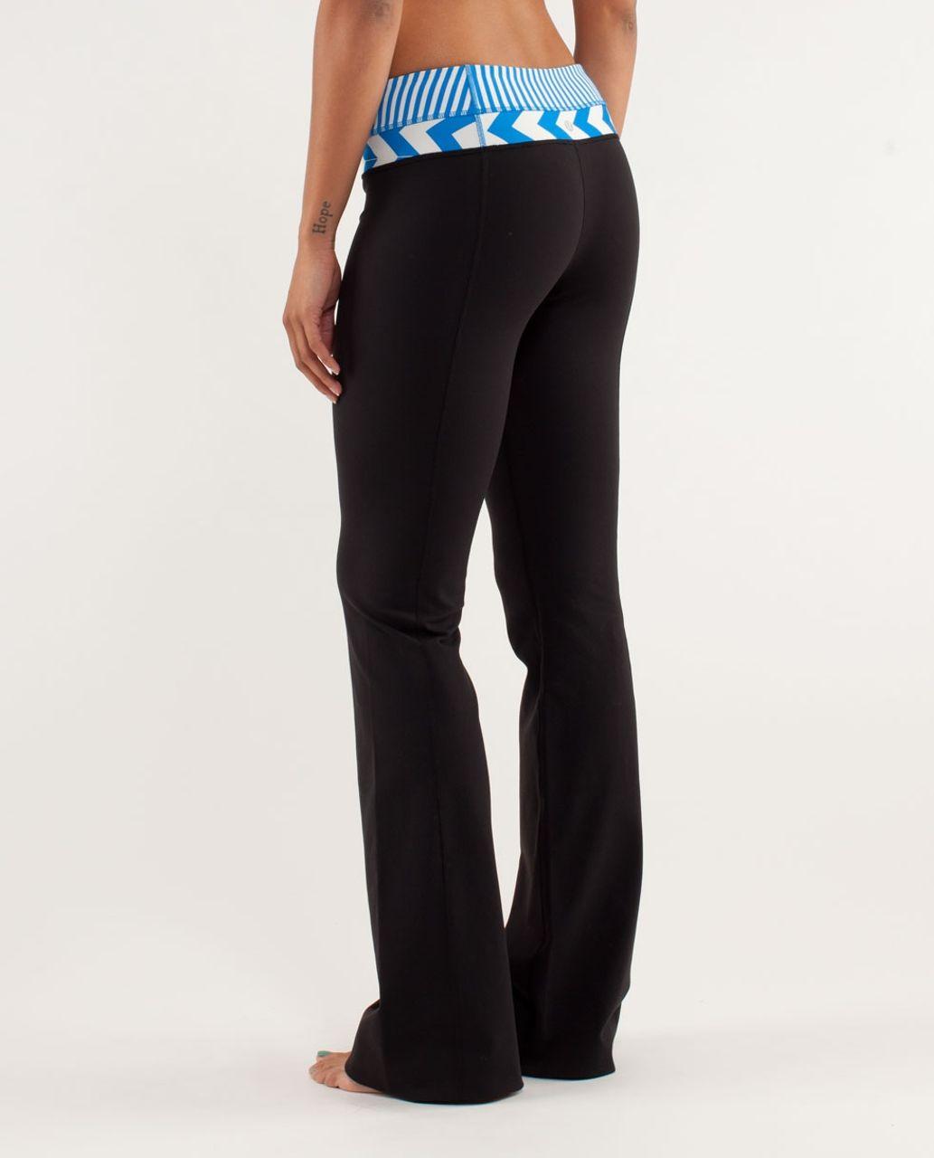 Lululemon Groove Pant *Slim (Regular) - Black / Classic Stripe Polar Cream Beaming Blue / Arrow Chevron Heathered Polar Cream Blu
