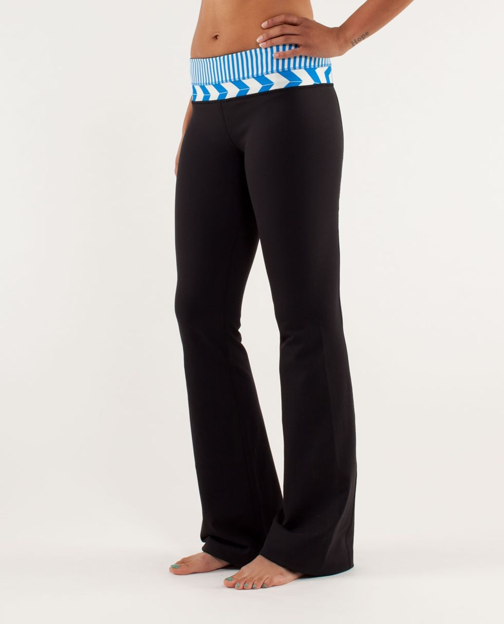 Lululemon Groove Pant *Slim (Regular) - Black / Classic Stripe Polar Cream Beaming Blue / Arrow Chevron Heathered Polar Cream Blu