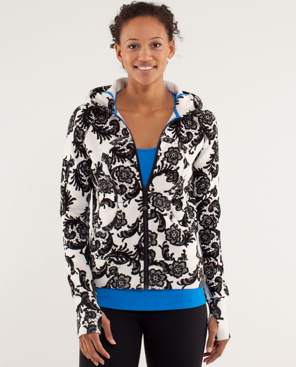 Lululemon Scuba Hoodie *Stretch - Laceoflage Polar Cream Black