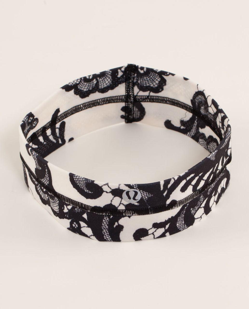 Lululemon Fly Away Tamer Headband - Laceoflage Polar Cream Black