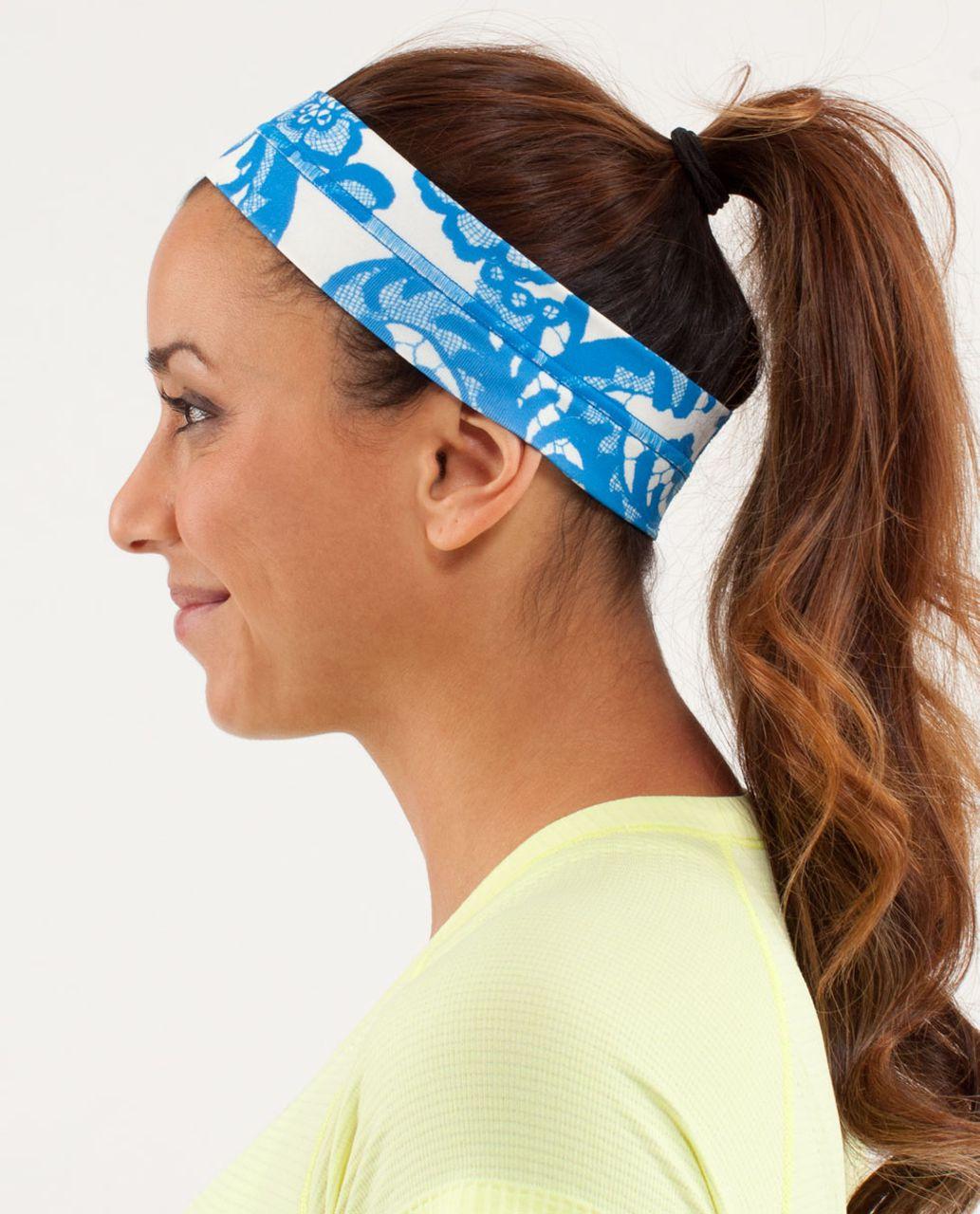 Lululemon Fly Away Tamer Headband - Laceoflage Polar Cream Beaming Blue