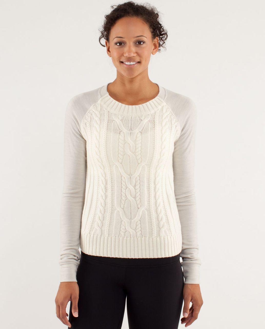 Lululemon St Moritz Sweater - Polar Cream - lulu fanatics