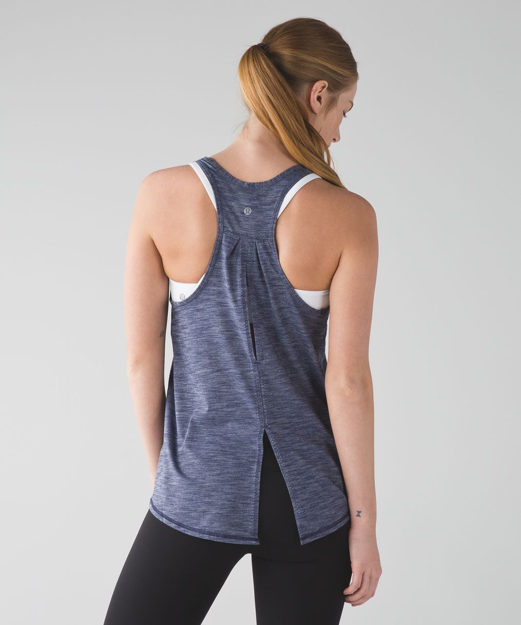 Lululemon Salute the Sun Tank - Heathered Cadet Blue