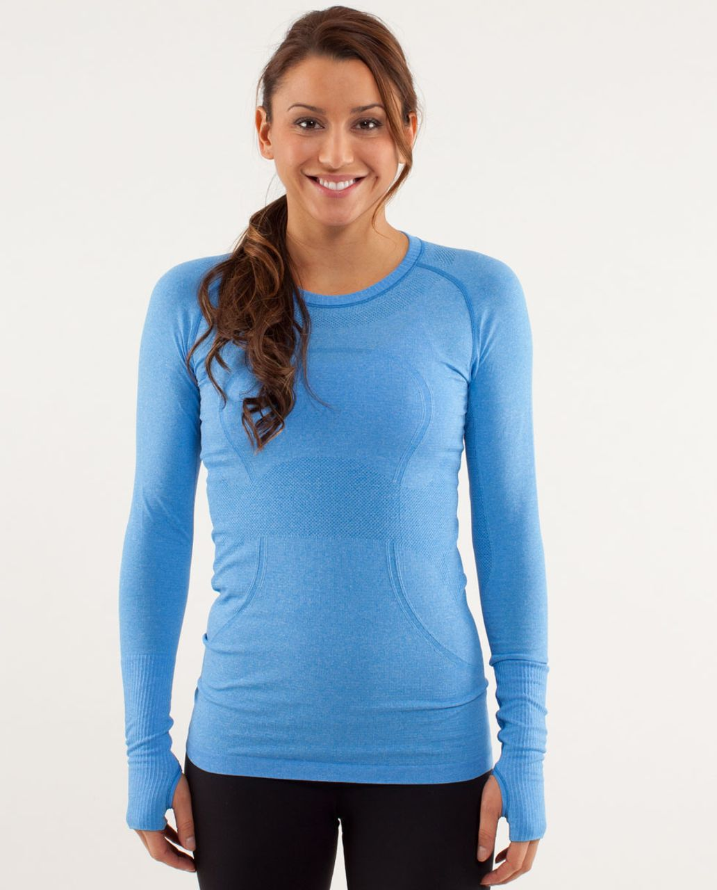 c0af8af5396f0 Lululemon Run  Swiftly Tech Long Sleeve - Beaming Blue - lulu fanatics