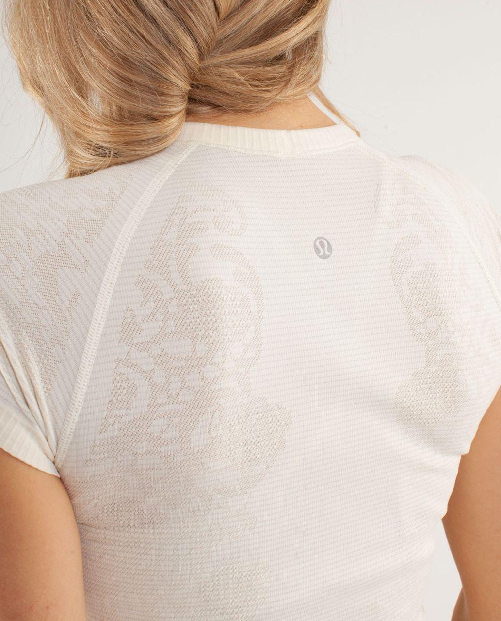 Lululemon Run:  Swiftly Tech Short Sleeve *Lace - Polar Cream