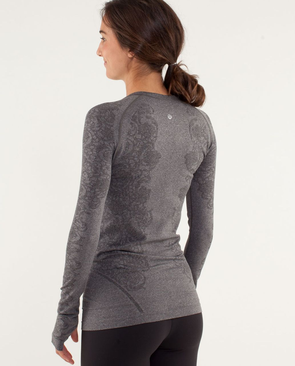 Lululemon Run:  Swiftly Tech Long Sleeve *Lace - Black